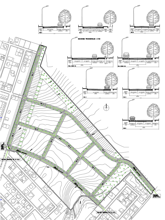 RED VIARIA. PAU Sector R.2. Superficie: 160.259 m2. Villanueva de la Torre. Guadalajara. 2005