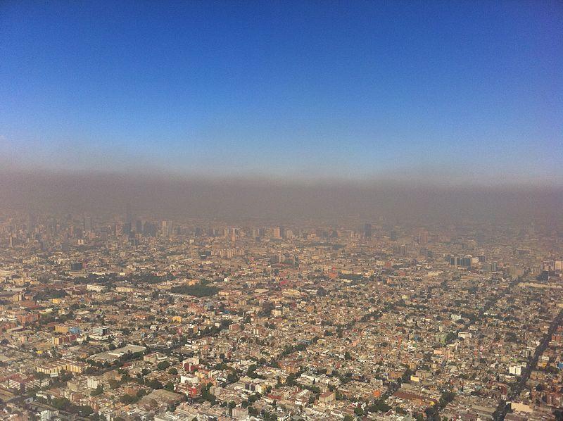 Vista de la contaminación en Ciudad de México