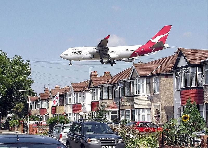 Contaminación acústica en las cercanías de Londres.