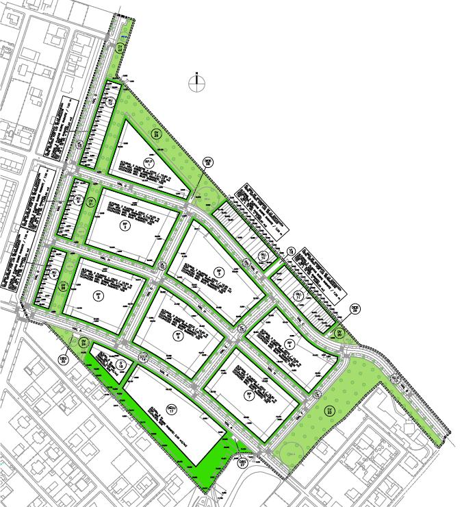 ALINEACIONES. PAU Sector R.2. Superficie: 160.259 m2. Villanueva de la Torre. Guadalajara. 2005