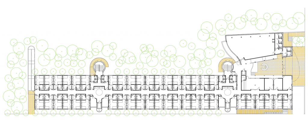 PLANTA BAJA. Residencia geriátrica y centro de día. 150 camas. superficie: 5.051,81 m2. parcela 17 u.a. 17.Camarma de Esteruelas. Madrid. 2000