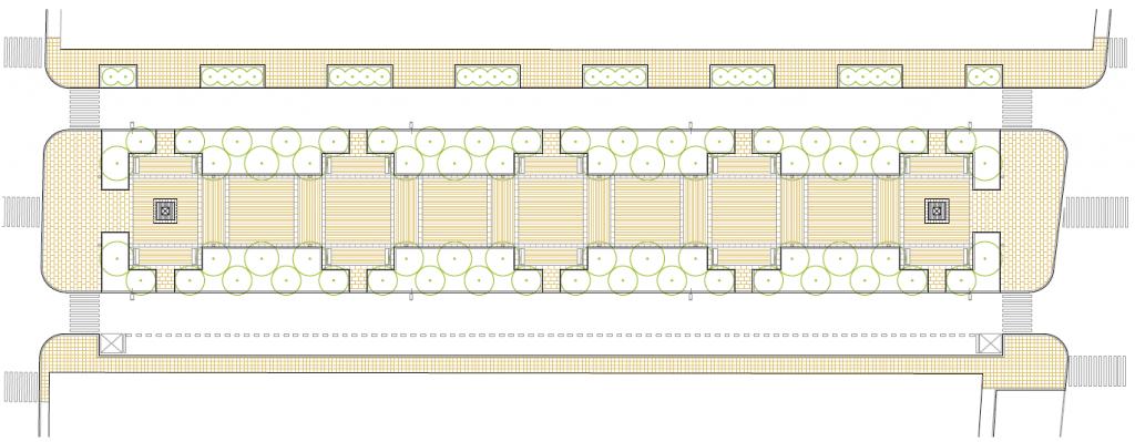 PLANTA DE LA FASE II. Bulevar de las Acacias. Fases I II y III. Superficie: 12.505 m2. Azuqueca de Henares. Guadalajara. 1.995-1.999