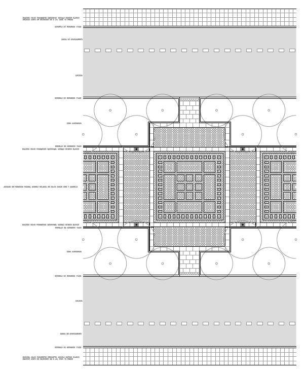 DETALLE DE LA PLANTA. Bulevar de las Acacias. Fases I II y III. Superficie: 12.505 m2. Azuqueca de Henares. Guadalajara. 1.995-1.999