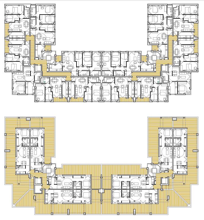 PLANTAS TIPO Y ÁTICO. Edificio de 50 viviendas de protección oficial de precio tasaso, 50 garajes y 50 trasteros. Superficie: 4.937,26 m2. Sector R9. Parcela 55. Villanueva de la Torre. Guadalajara. 2009