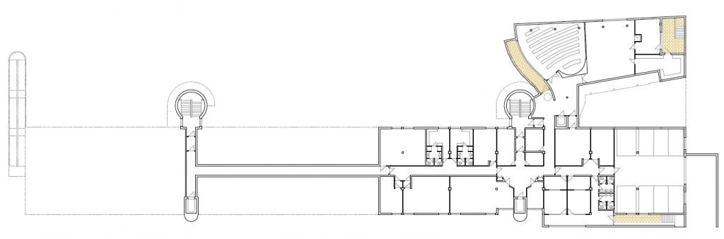 PLANTA SEMISÓTANO. Residencia geriátrica y centro de día. 150 camas. superficie: 5.051,81 m2. parcela 17 u.a. 17.Camarma de Esteruelas. Madrid. 2000