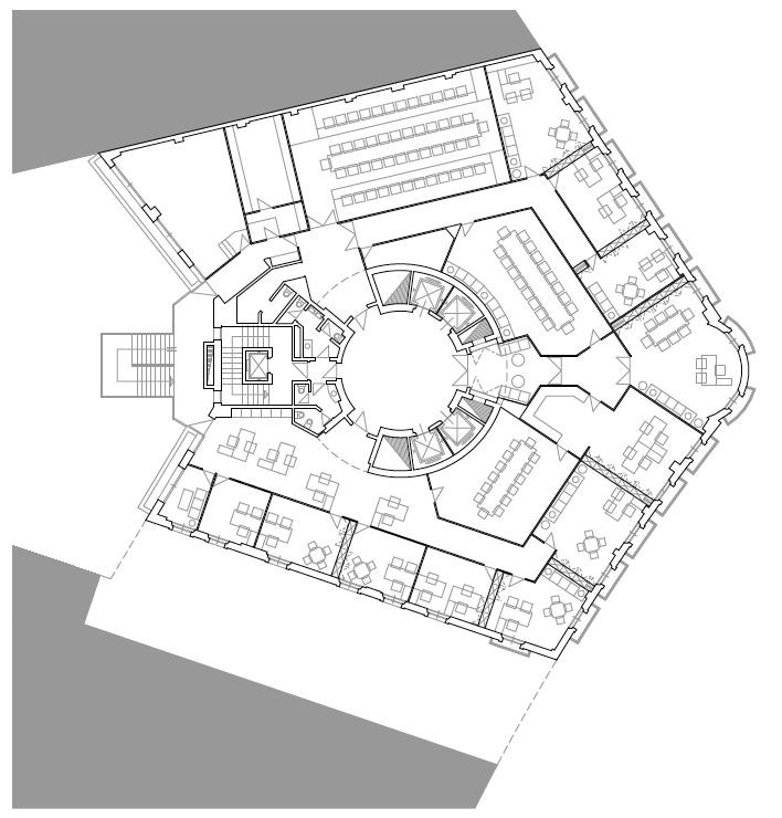 PLANTA TERCERA. PRESIDENCIA. Sede de Fundesco. Superficie: 3.131.06 m2. Plaza de la Independencia 6. Madrid. 1,993