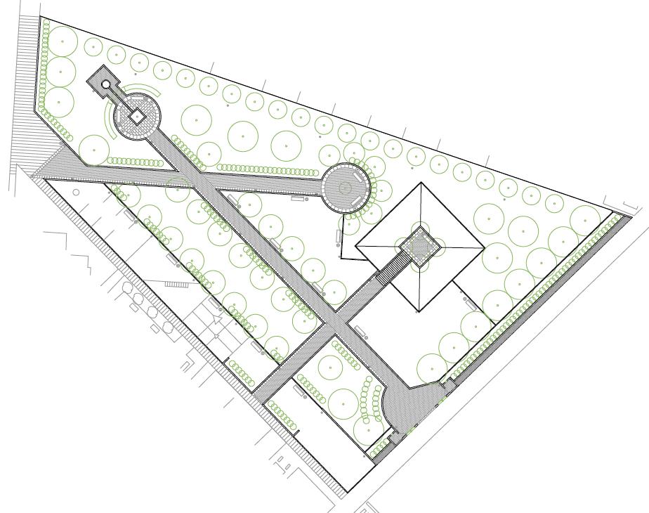 PLANTA GENERAL. Parque municipal. Superficie: 3.770,31 m2. Senda de San Lorenzo s/n. Azuqueca de Henares. Guadalajara. 2000