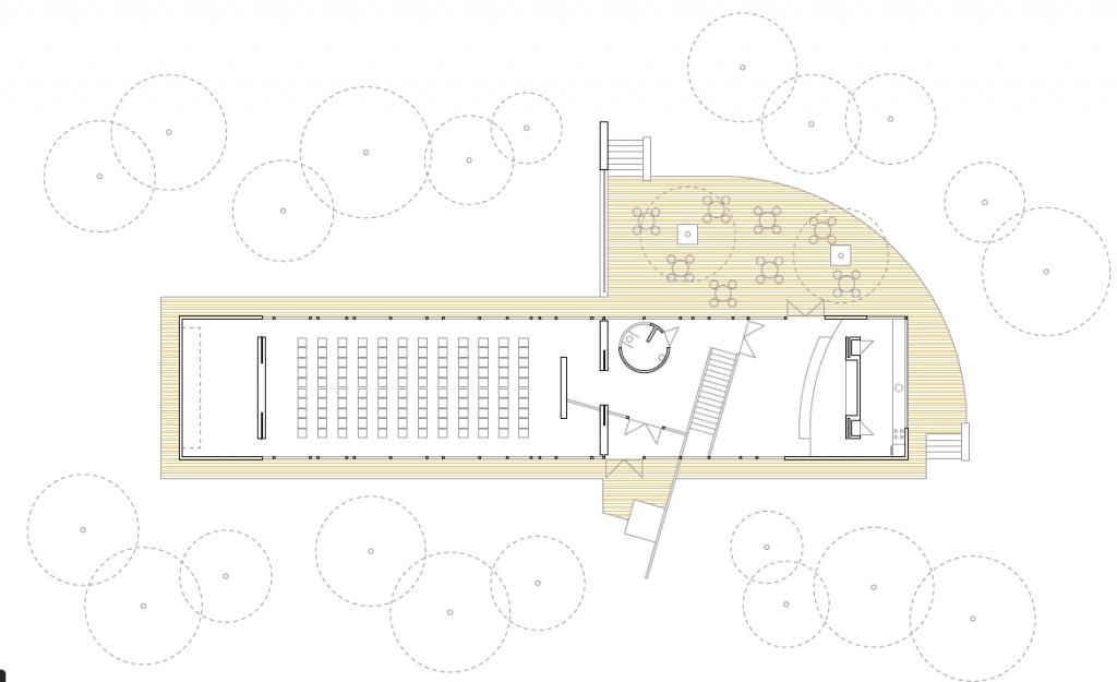 PLANTA BAJA. Pabellón multiusos municipal. Superficie: 333,11 m2. Parque de la Quebradilla. Azuqueca de Henares. Guadalajara. 2005