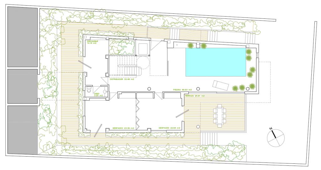 Vivienda unifamiliar en calle Quebradilla 3. Superficie: 676.99 m2. Azuqueca de Henares. Guadalajara. 2014 y 2015